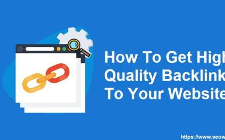 Get High Quality Backlinks Website