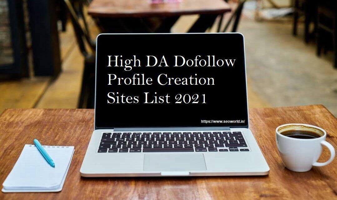Dofollow Profile Creation Sites List